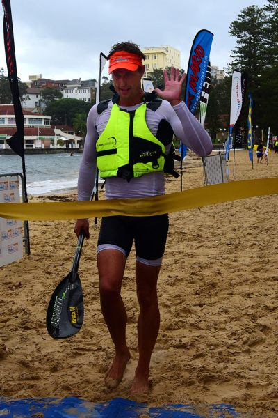 The 2017 Bridge to Beach and finish line at Manly Wharf on 26th February